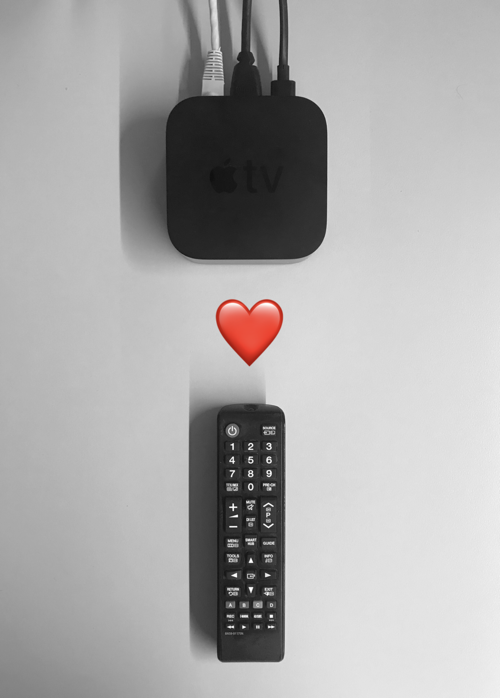 apple tv loves ir remote controls